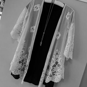 Lace cover-up